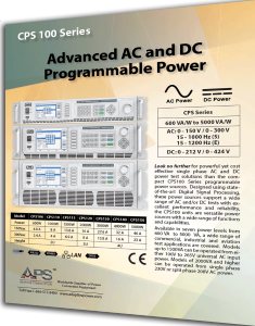 CPS100 Series AC and DC Power Sources - Adaptive Power Systems